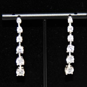 Jewelry - Sparkling Cubic Zirconia Dangling Post Earrings